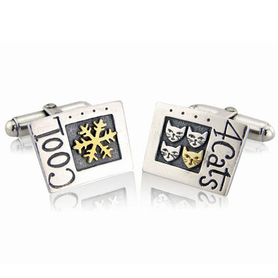 'Cool 4 Cats', cufflinks
