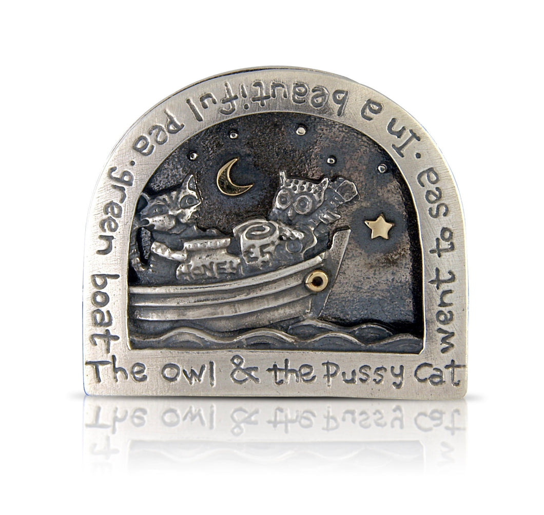 'The Owl and the Pussycat', brooch