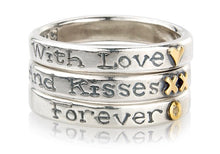 'With Love and Kisses Forever', ring stack