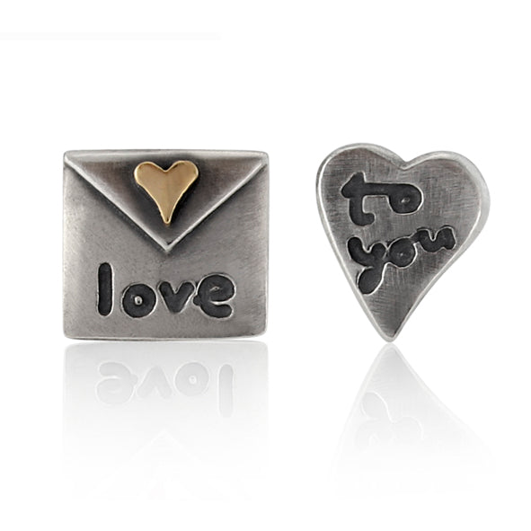 'Love to You', stud earrings