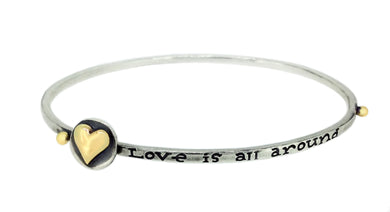 'Love is All Around', sliding bangle