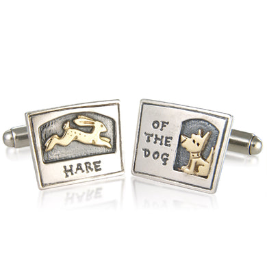 'Hare of the Dog', cufflinks