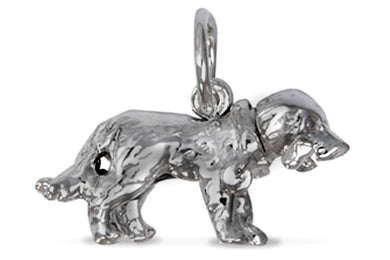'Nodding Dog and Bone', silver charm