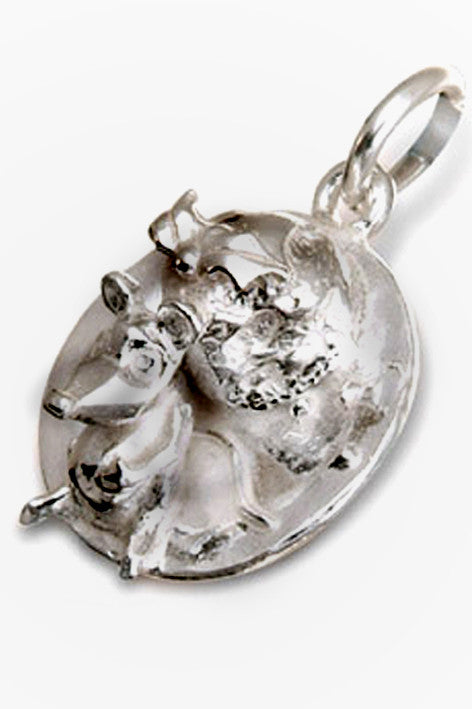 'Mouse and Christmas Pudding', silver charm