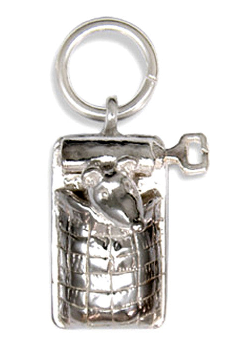 'Mouse in Sardine Tin', silver charm