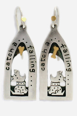 'Catch a falling heart', drop earrings