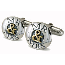 'Mr & Mrs', cufflinks