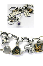 'All Creatures Great and Small', charm bracelet