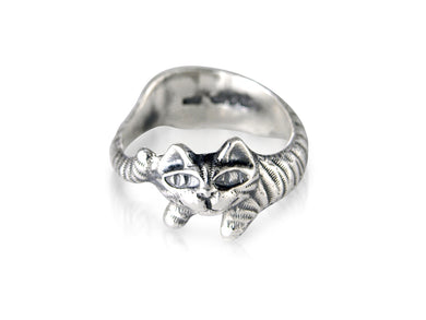 Classic Silver Cat Ring