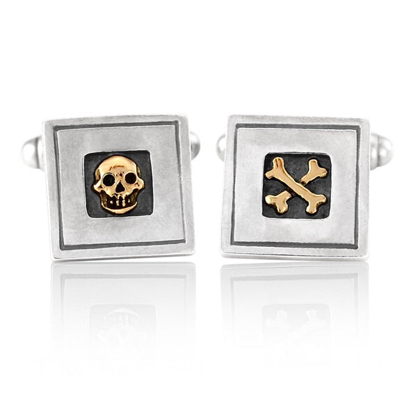 'Skull and Crossbones', cufflinks