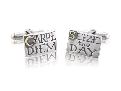 'Carpe Diem/Seize the Day', Cufflinks