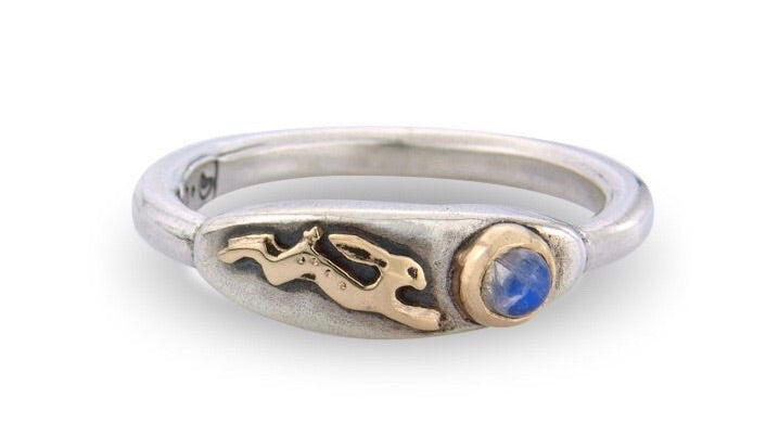'Magical Hare and Moonstone', ring
