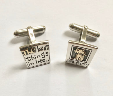 'The Best Things in Life...', Cufflinks