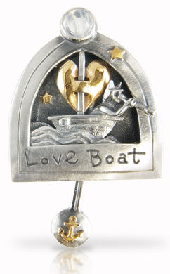 'Love Boat', brooch