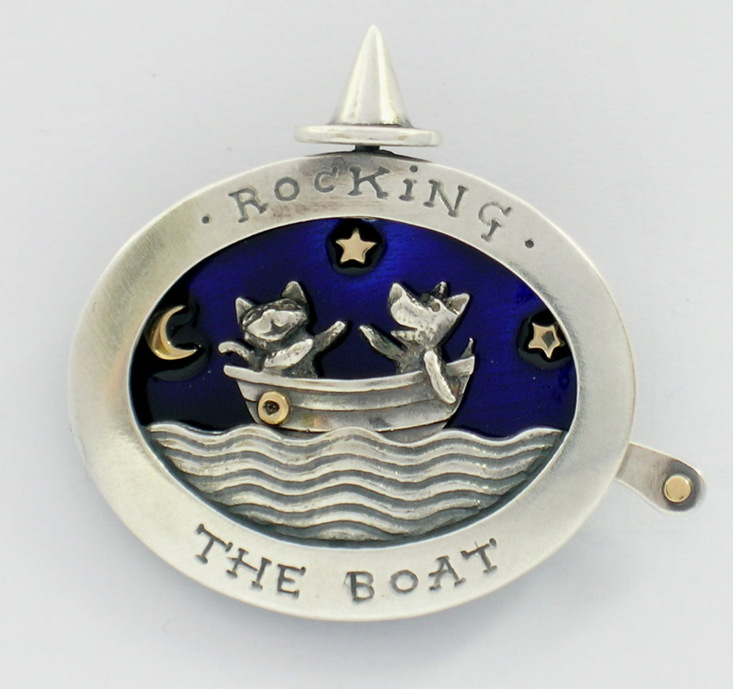 'Rocking the Boat', brooch