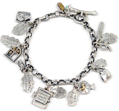 'Sweet Dreams', Cat charm bracelet