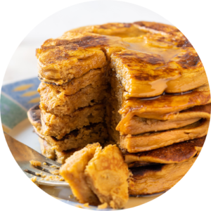 Power your morning by taking a bite of gluten-free sweet potato pancakes in the morning.