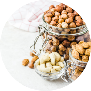 Vegan protein source almond, cashew, and brazil nuts