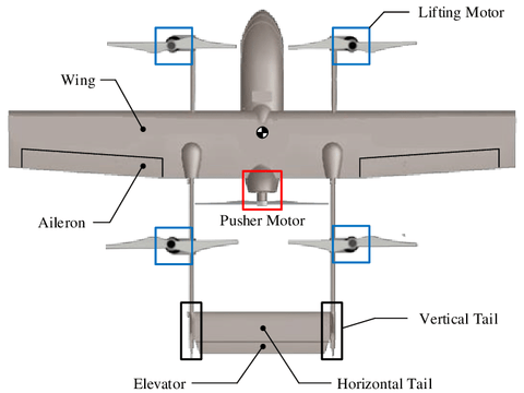 fixed wing hybrid drone