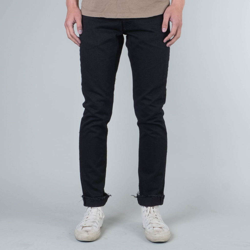 Coast Denim - Moonlight Ocean Wash / Raw Hem Slim Super Taper Black