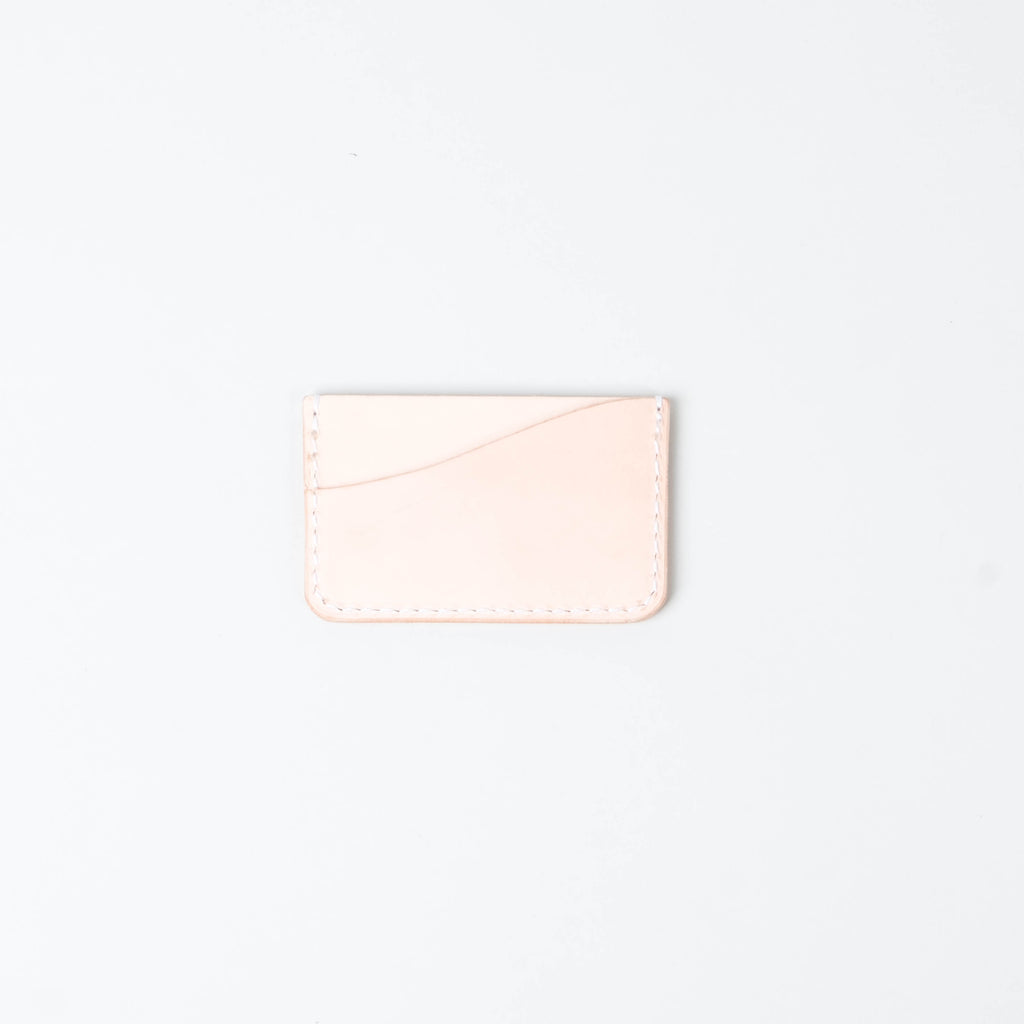 Friday & River - Tri-Pocket Leather Card Holder Natural