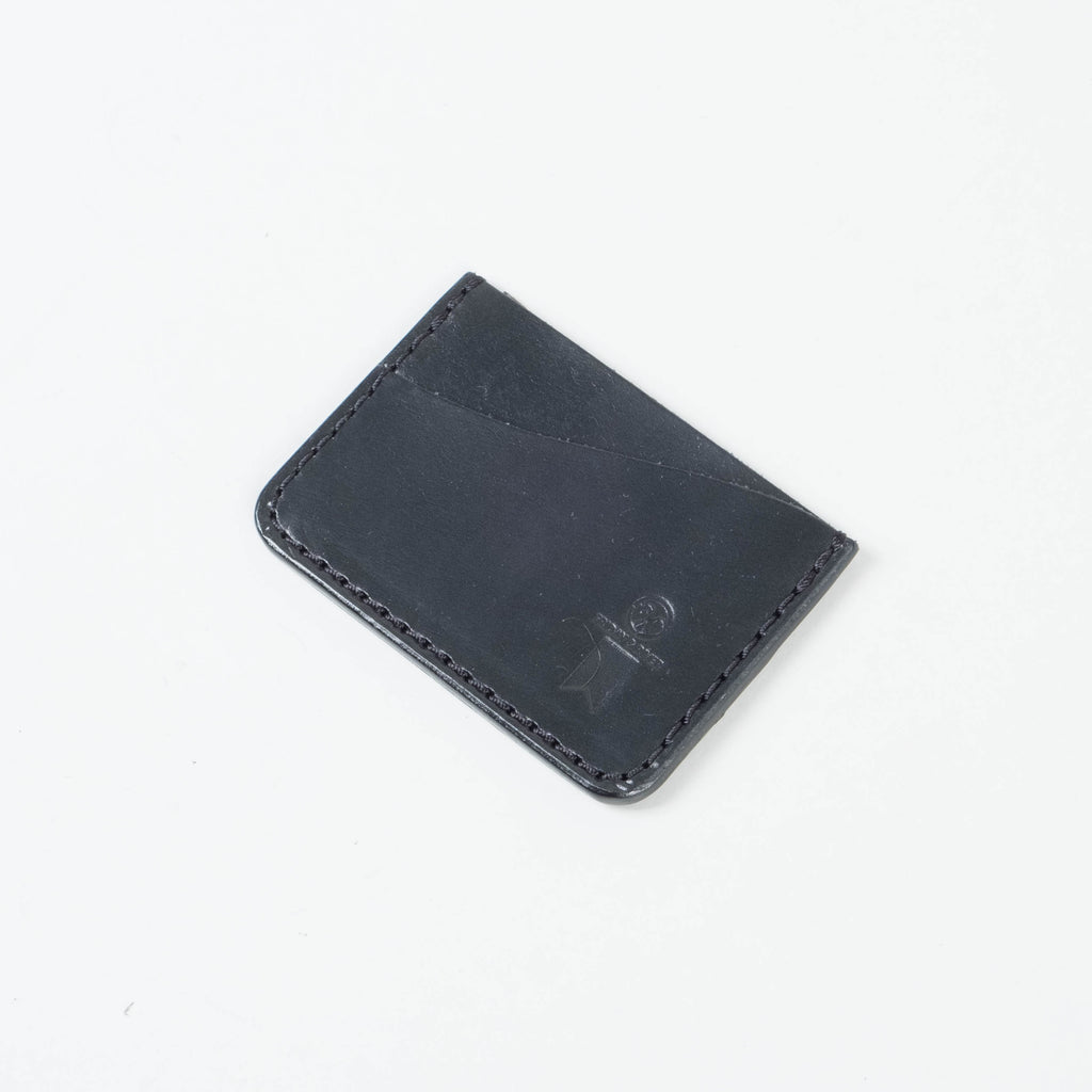 Friday & River x Lone Flag - Tri-Pocket Leather Card Holder Black