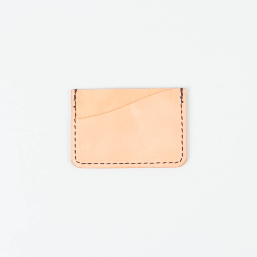 Friday & River x Lone Flag - Tri-Pocket Leather Card Holder Honey - Lone Flag