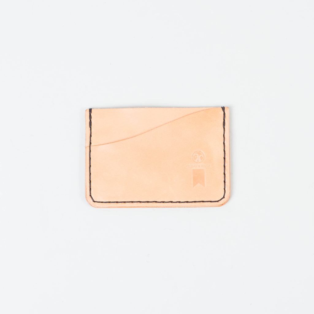 Friday & River x Lone Flag - Tri-Pocket Leather Card Holder Honey