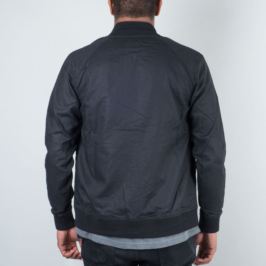 Acyclic Equip - Black Linen Bomber - Lone Flag