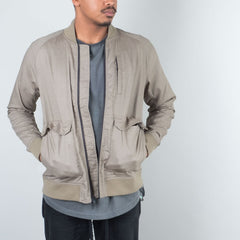 Acyclic Equip - Olive Linen Bomber