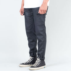 Acyclic Equip - Black Tech Linen Cargo Pants