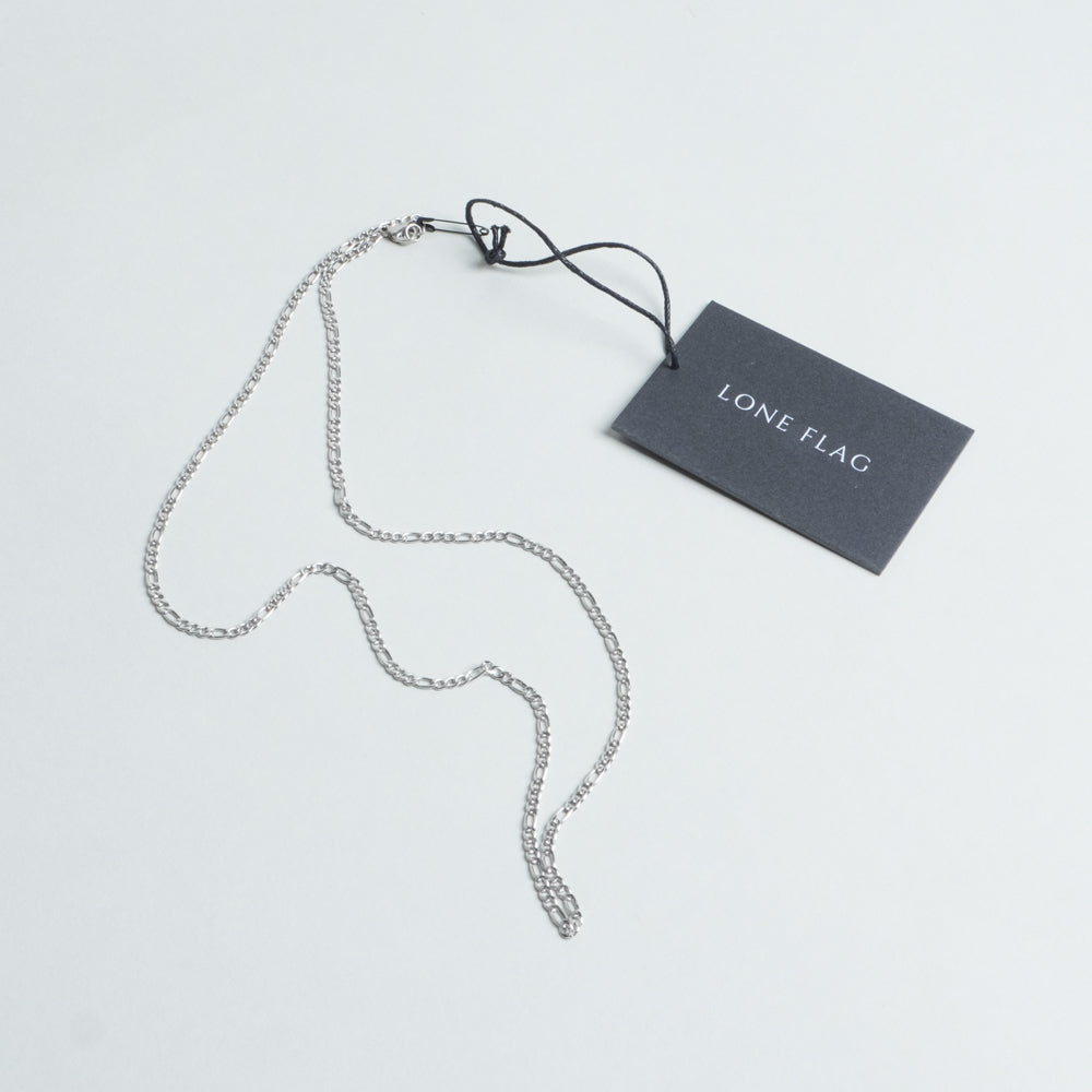 Lone Flag - Silver Coast-Link Chain Necklace