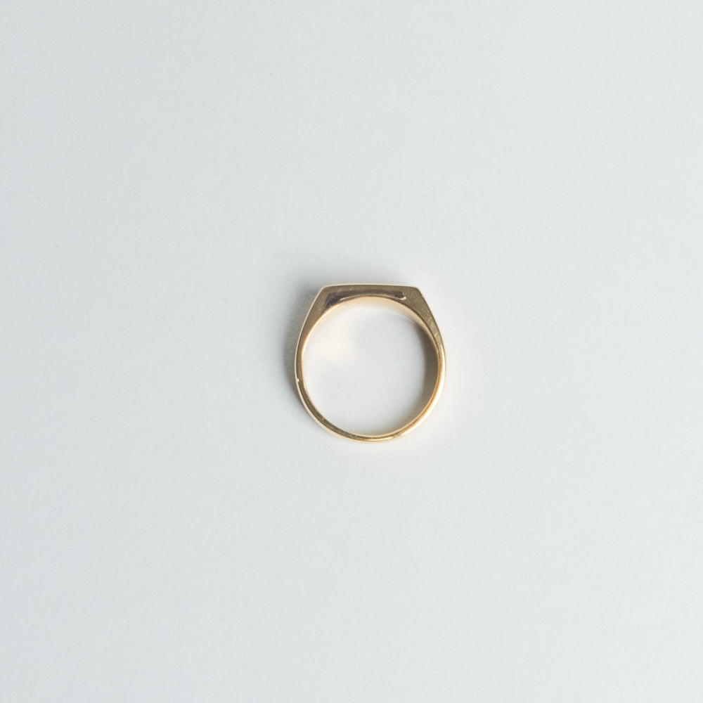 Lone Flag - Gold Plated Signet Ring