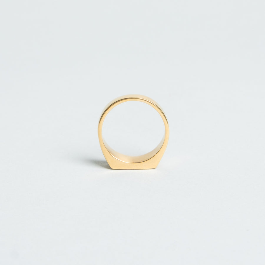 Lone Flag - Gold Plated Signet Ring - Lone Flag