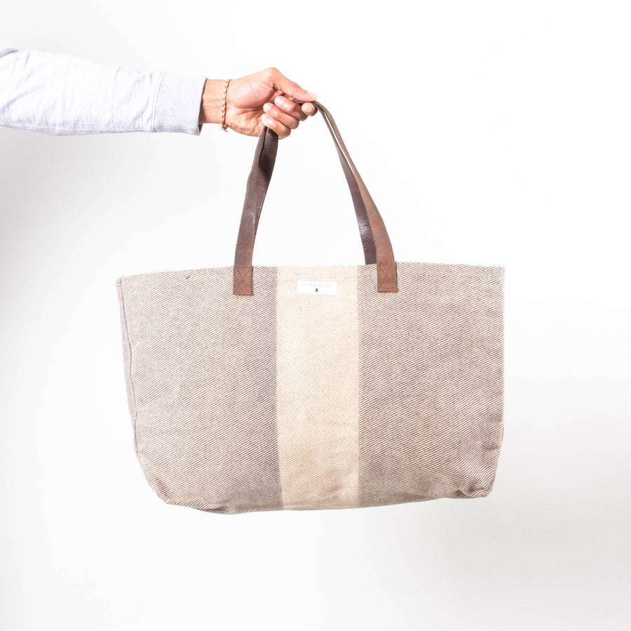 Lone Flag - Heavy Waxed Wool Cotton Tote - Lone Flag