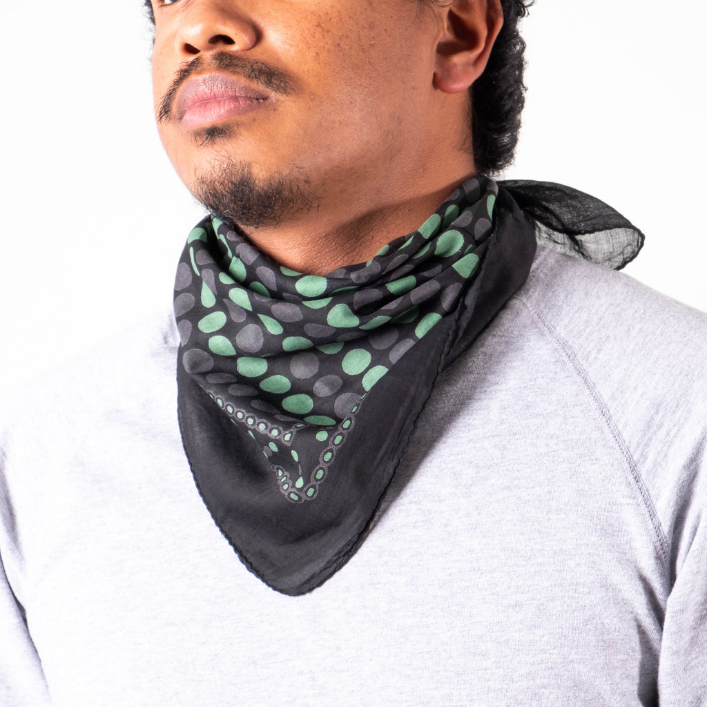 Lone Flag - Bandana Black Green