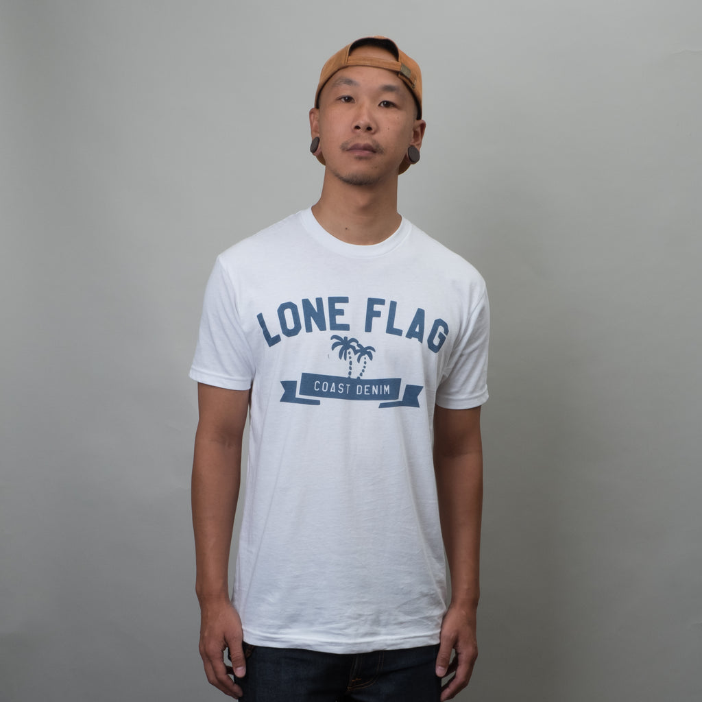 Lone Flag - Coast Denim Tee Stone Blue