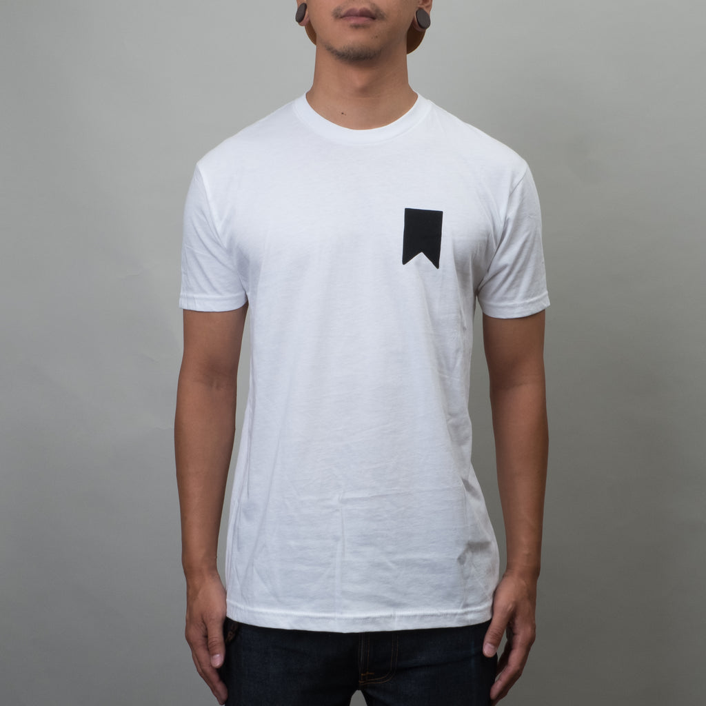 Lone Flag - Sunrise Palm Tee White