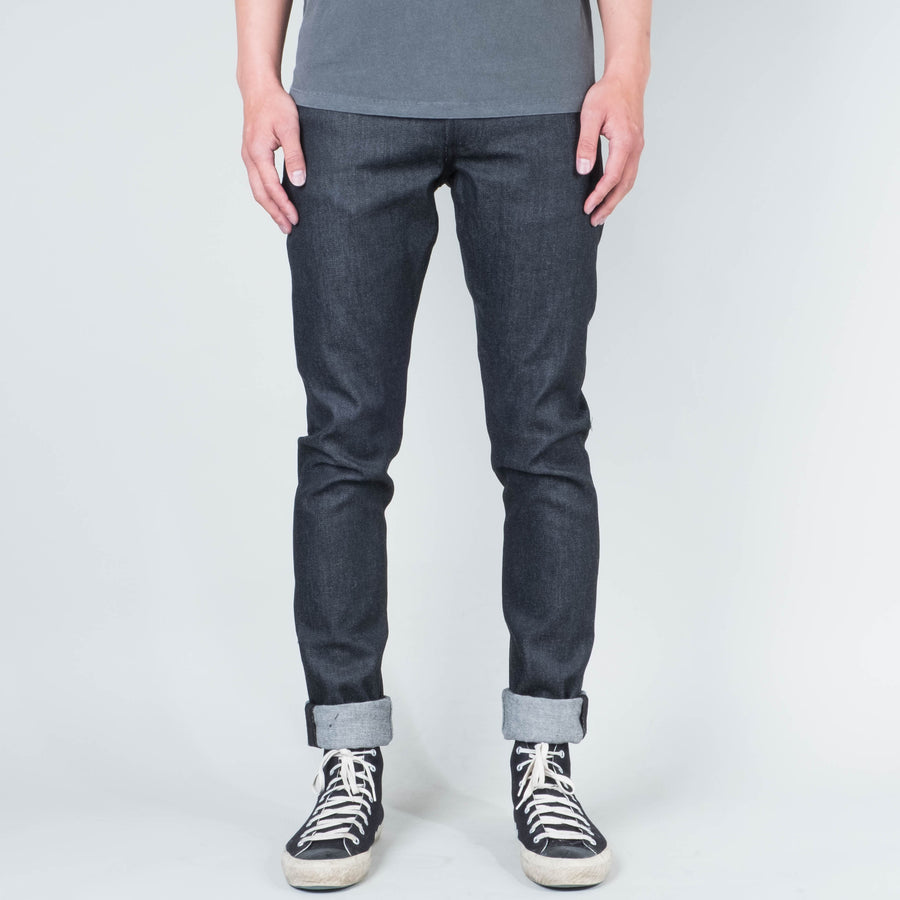 Coast Denim - Black / White Weft Slim Super-Taper - Lone Flag
