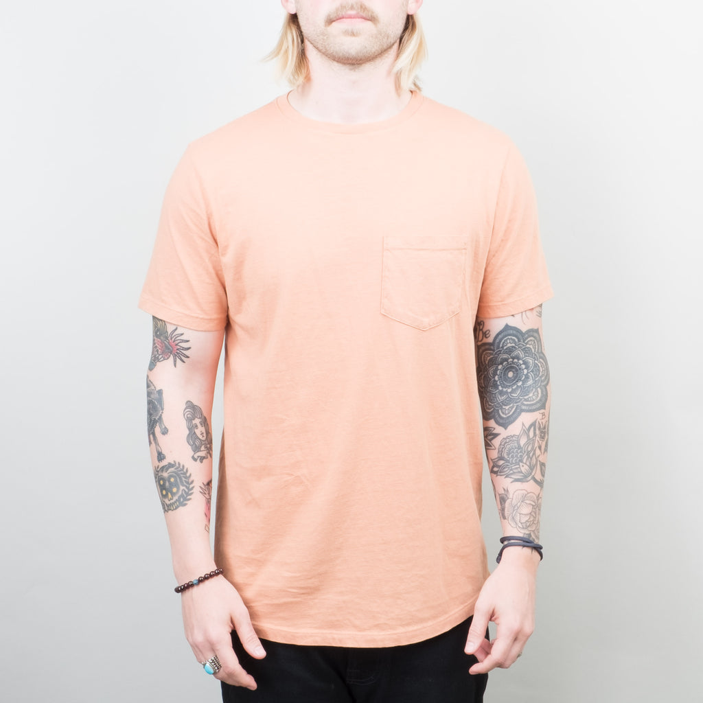 Lone Flag - Basic Pocket Curved Hem Washed Blush