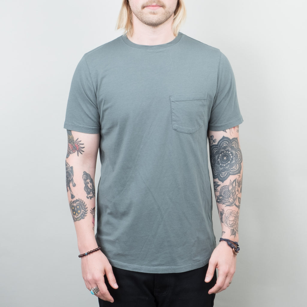 Lone Flag - Basic Pocket Curved Hem Palm Green