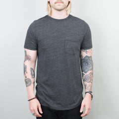 Lone Flag - Basic Pocket Curved Hem Tri Blend Black
