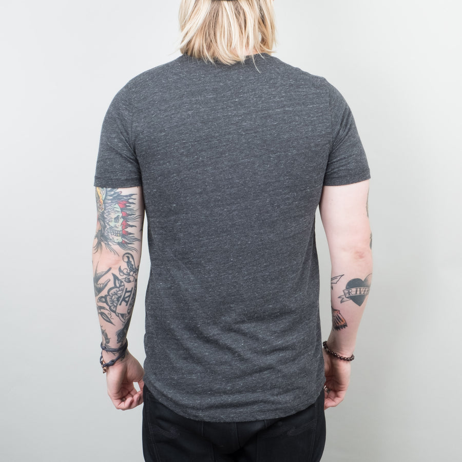 Lone Flag - Basic Pocket Curved Hem Tri Blend Black - Lone Flag