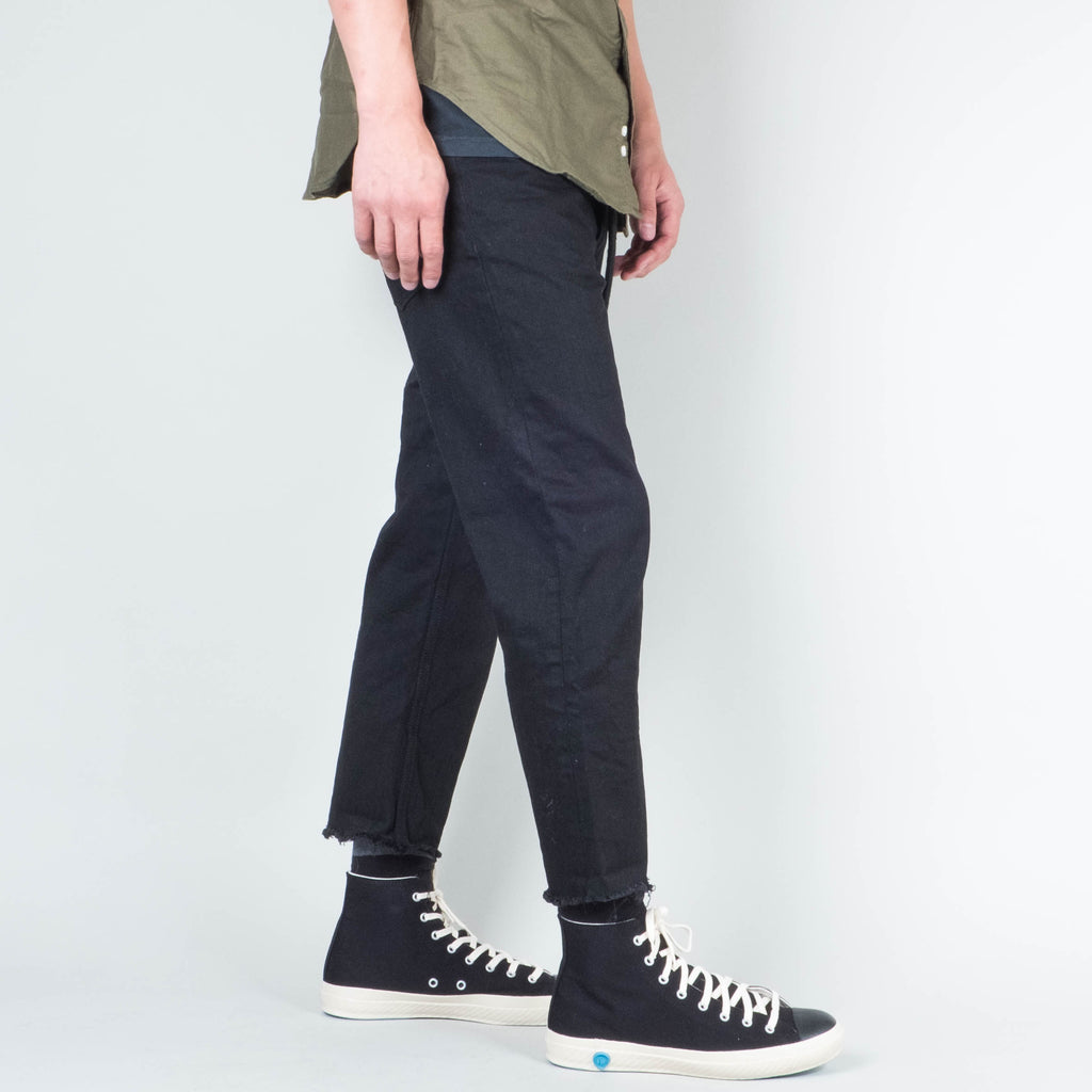 Coast Denim - Flood Pant Raw Hem Washed Black