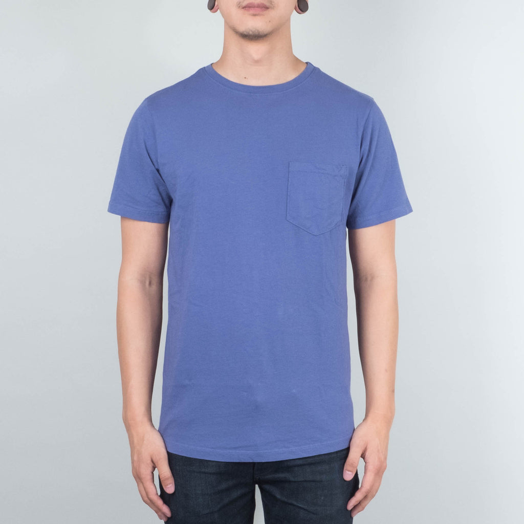 Lone Flag - Basic Pocket Curved Hem Pale Indigo
