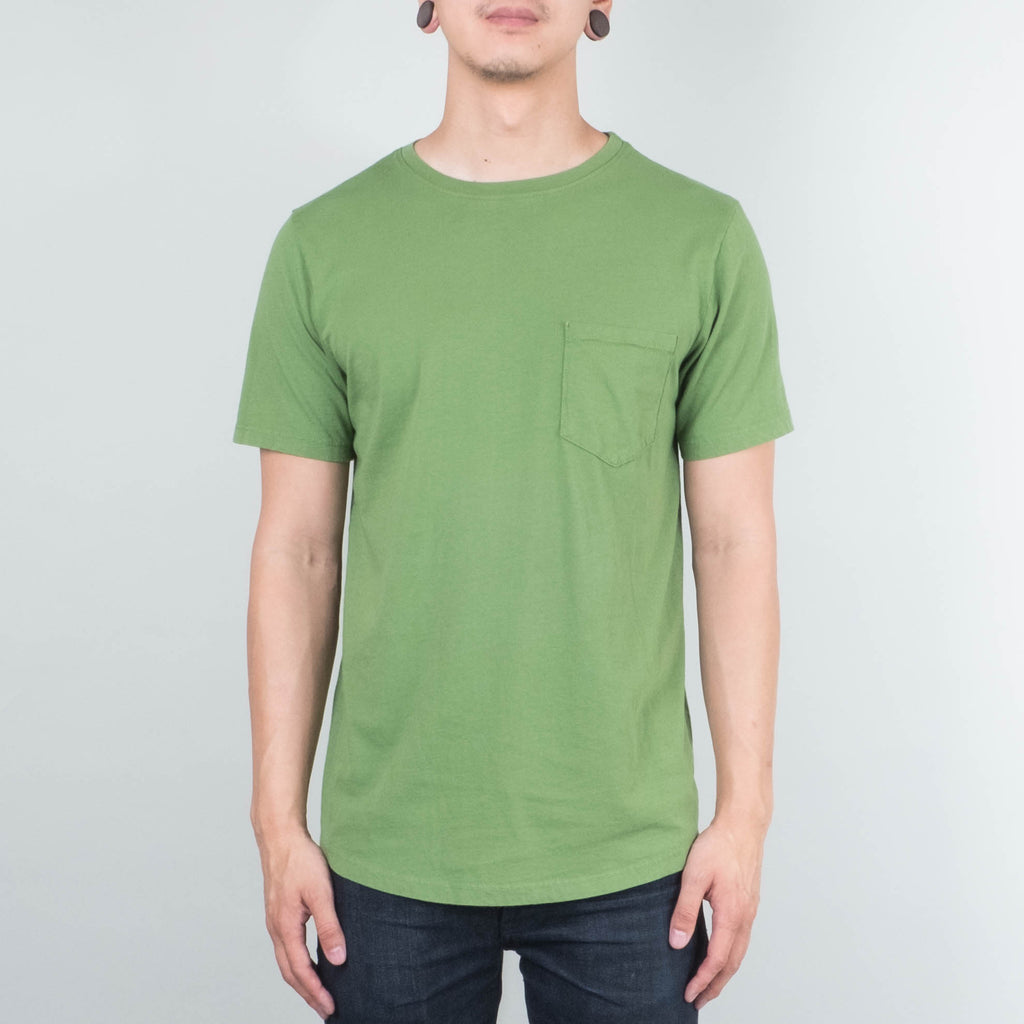 Lone Flag - Basic Pocket Curved Hem Evergreen