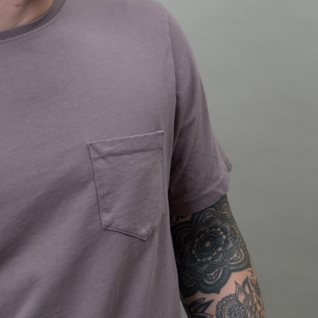 Lone Flag - Heavyweight Basic Pocket Curved Hem Charcoal
