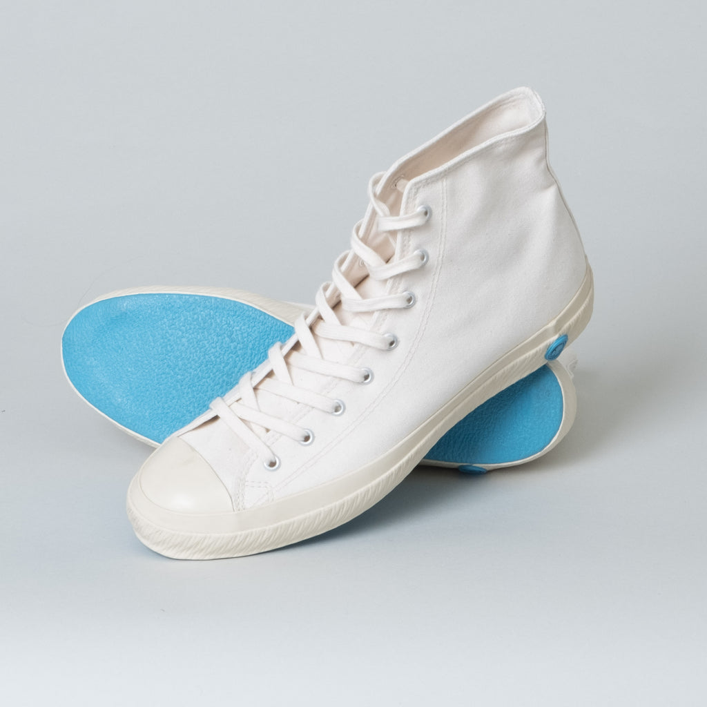 Shoes Like Pottery - White High Top - Lone Flag