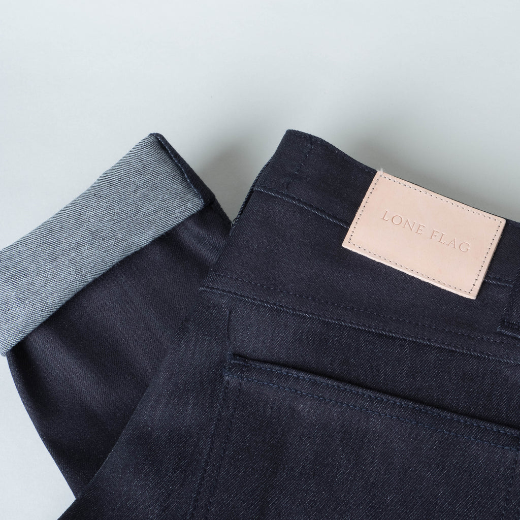 Coast Denim - Blue / Black Super Fader All-Weather Slim Super-Taper - Lone Flag