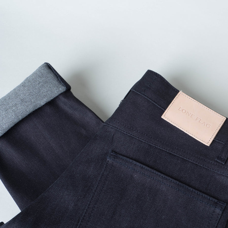 Coast Denim - Blue / Black Super Fader All-Weather Straight Taper - Lone Flag